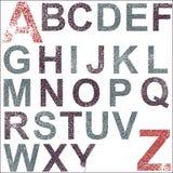 Alfabeto de Grunge Fotografía de archivo