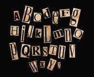 Alfabeto de Grunge Fotos de archivo libres de regalías
