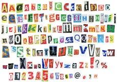Alfabeto de Grunge Imagem de Stock Royalty Free