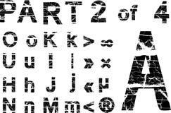 Alfabeto de Grunge Imágenes de archivo libres de regalías