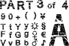 Alfabeto de Grunge Foto de archivo