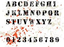 Alfabeto de Grunge Imagen de archivo