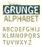 Alfabeto de Grunge del vector Imagenes de archivo