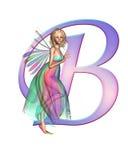 Alfabeto de hadas - letra B Imagen de archivo