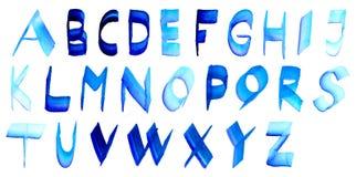 Alfabeto de la acuarela Foto de archivo libre de regalías