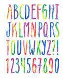 Alfabeto de la acuarela del vector Imagen de archivo