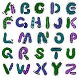 Alfabeto de la bacteria stock de ilustración