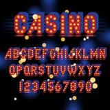 Alfabeto de la bombilla Imagen de archivo libre de regalías