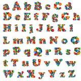 Alfabeto de la burbuja Imagen de archivo