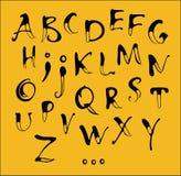 Alfabeto de la caligrafía Imagen de archivo libre de regalías
