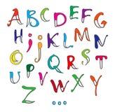 Alfabeto de la caligrafía Fotografía de archivo