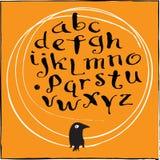 Alfabeto de la caligrafía Fotografía de archivo libre de regalías