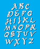 Alfabeto de la caligrafía Fotos de archivo