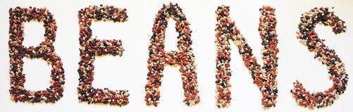 Alfabeto de la cocina - habas Imagen de archivo