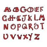 alfabeto de la cola del diablo de la historieta Fotografía de archivo libre de regalías