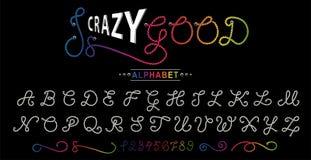 Alfabeto de la cuerda Fuente de vector Alfabeto creativo Tipografía exclusiva de las letras ilustración del vector