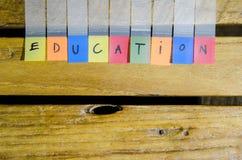 Alfabeto de la educación Imagen de archivo