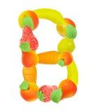Alfabeto de la fruta, la letra B Fotografía de archivo libre de regalías