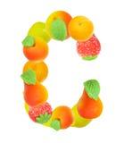 Alfabeto de la fruta, la letra C Imagenes de archivo