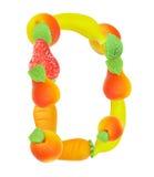 Alfabeto de la fruta, la letra D Fotografía de archivo