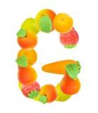 Alfabeto de la fruta, la letra G Fotografía de archivo libre de regalías