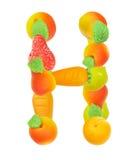 Alfabeto de la fruta, la letra H Imagenes de archivo