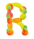 Alfabeto de la fruta, la letra R Foto de archivo