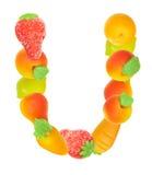 Alfabeto de la fruta, la letra U Fotos de archivo libres de regalías