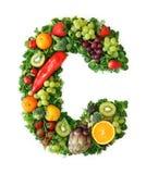 Alfabeto de la fruta y verdura Imágenes de archivo libres de regalías