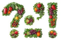 Alfabeto de la fruta y verdura fotografía de archivo libre de regalías
