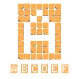 Alfabeto de la fuente de la etiqueta engomada Notas pegajosas EPS8 Imagen de archivo libre de regalías