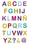 Alfabeto de la gota Imagenes de archivo