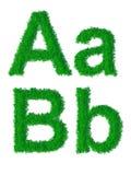 Alfabeto de la hierba verde Imagenes de archivo