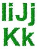 Alfabeto de la hierba verde Fotografía de archivo