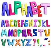 alfabeto de la historieta 3d Fotografía de archivo