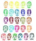 Alfabeto de la huella digital Fotos de archivo