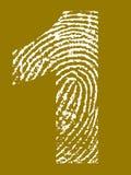 Alfabeto de la huella digital - número 1 Fotos de archivo libres de regalías