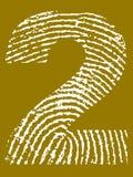 Alfabeto de la huella digital - número 2 libre illustration