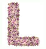 Alfabeto de la letra con el tipo del concepto de ABC de la flor como logotipo Fotos de archivo libres de regalías