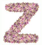 Alfabeto de la letra con el tipo del concepto de ABC de la flor como logotipo Imágenes de archivo libres de regalías