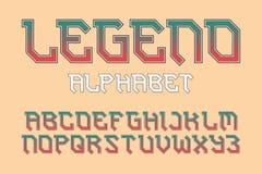 Alfabeto de la leyenda Fuente elegante del motorista Alfabeto ingl?s aislado ilustración del vector
