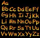 Alfabeto de la llama Imágenes de archivo libres de regalías