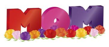Alfabeto de la MAMÁ del día de madres con el ejemplo de las rosas libre illustration