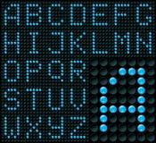Alfabeto de la matriz de puntos Fotografía de archivo
