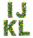 Alfabeto de la Navidad Foto de archivo libre de regalías