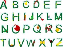 Alfabeto de la Navidad Imagen de archivo