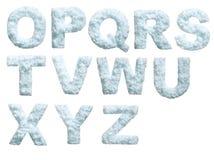 Alfabeto de la nieve Fotos de archivo