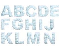 Alfabeto de la nieve Imagen de archivo libre de regalías
