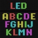 Alfabeto de la pantalla LED Foto de archivo libre de regalías