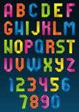 Alfabeto de la papiroflexia Ilustración del Vector